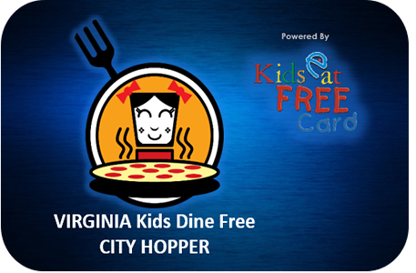 Kids Dine Free City Hopper 12-Month Membership Card