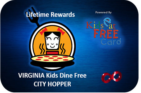 Kids Dine Free Lifetime City-Hopper Card